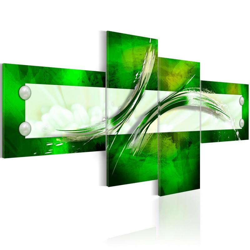 Obraz  zielony  motyw abstrakcyjny