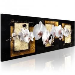 Obraz - Finezyjna kompozycja z orchideą