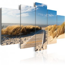 Obraz  Dzika plaża  5 części