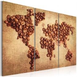 Obraz  Kawy świata  tryptyk