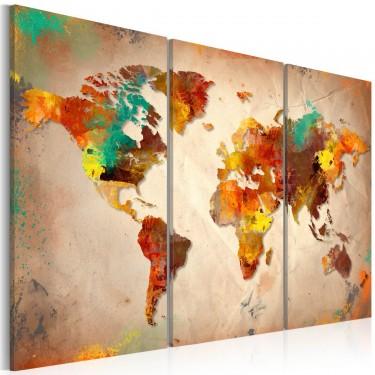 Obraz  Painted World  triptych