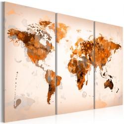 Obraz  Map of the World  Desert storm  triptych