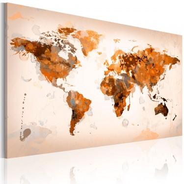 Obraz  Map of the World  Desert storm