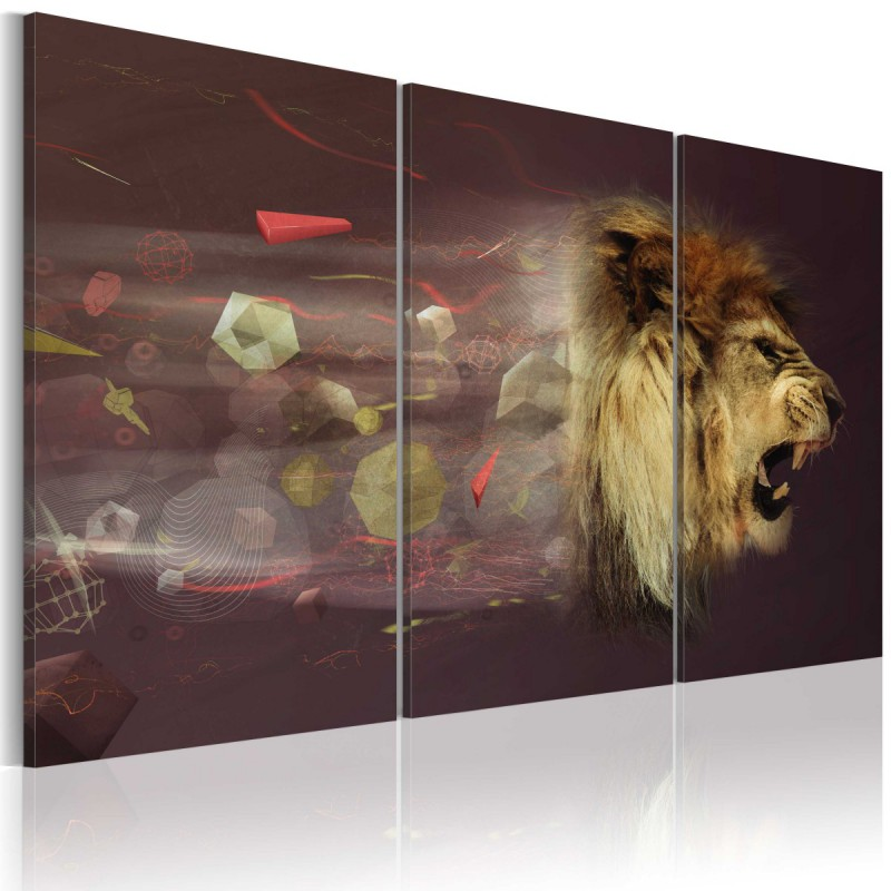 Obraz  lew (abstrakcja)