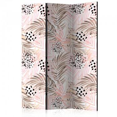 Parawan 3częściowy  Różowe palmy [Room Dividers]