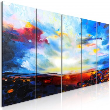 Obraz  Kolorowe niebo (5częściowy) wąski
