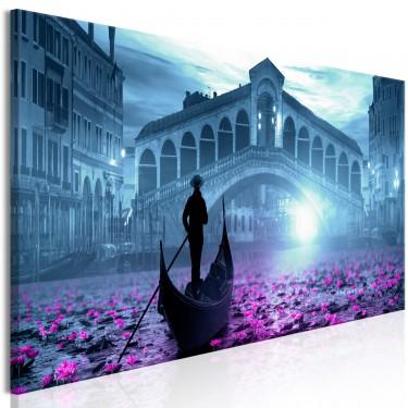 Obraz  Magiczna Wenecja (1częściowy) wąski niebieski