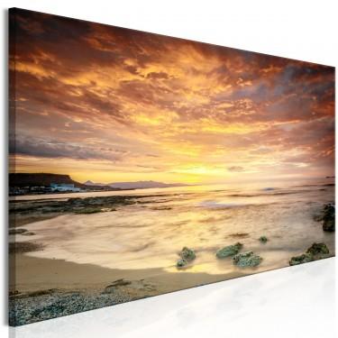 Obraz  Plaża na Krecie (1częściowy) wąski pomarańczowy