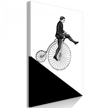 Obraz  Cyklista (1częściowy) pionowy