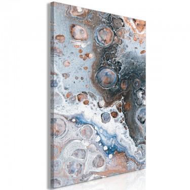 Obraz  Blue Sienna Marble (1częściowy) pionowy
