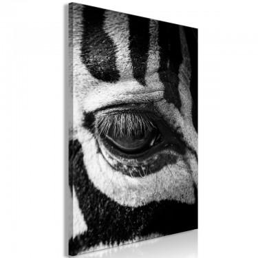 Obraz  Oko zebry (1częściowy) pionowy