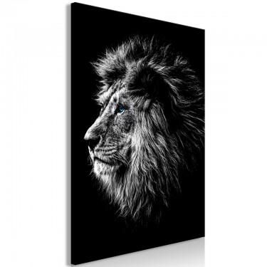 Obraz  Niebieskooki lew (1częściowy) pionowy