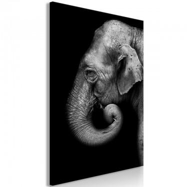 Obraz  Portret słonia (1częściowy) pionowy