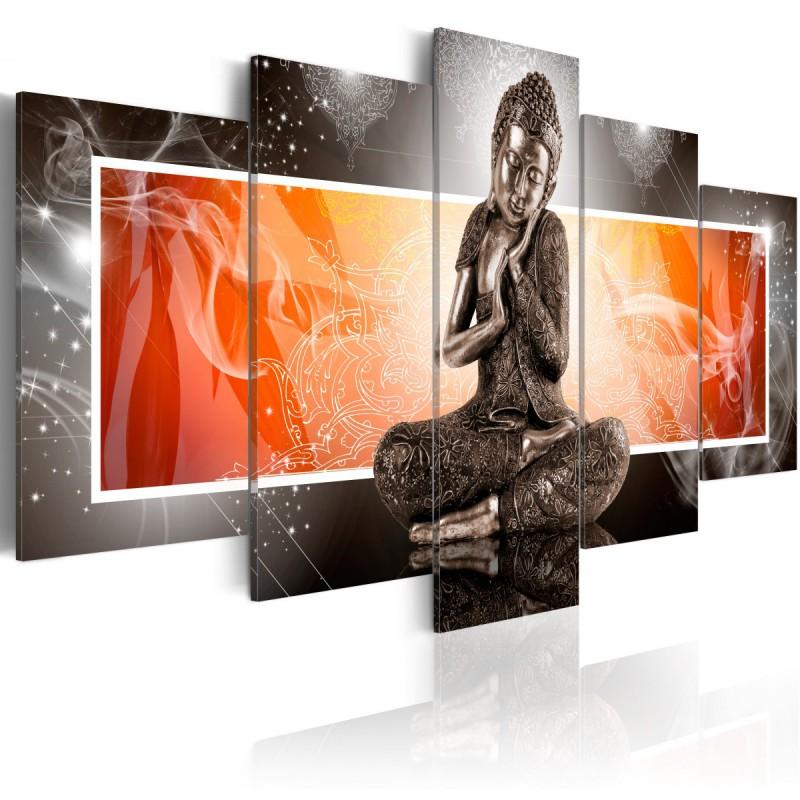 Obraz  Budda i ornamenty