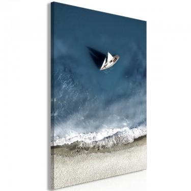 Obraz  Jacht na morzu (1częściowy) szeroki
