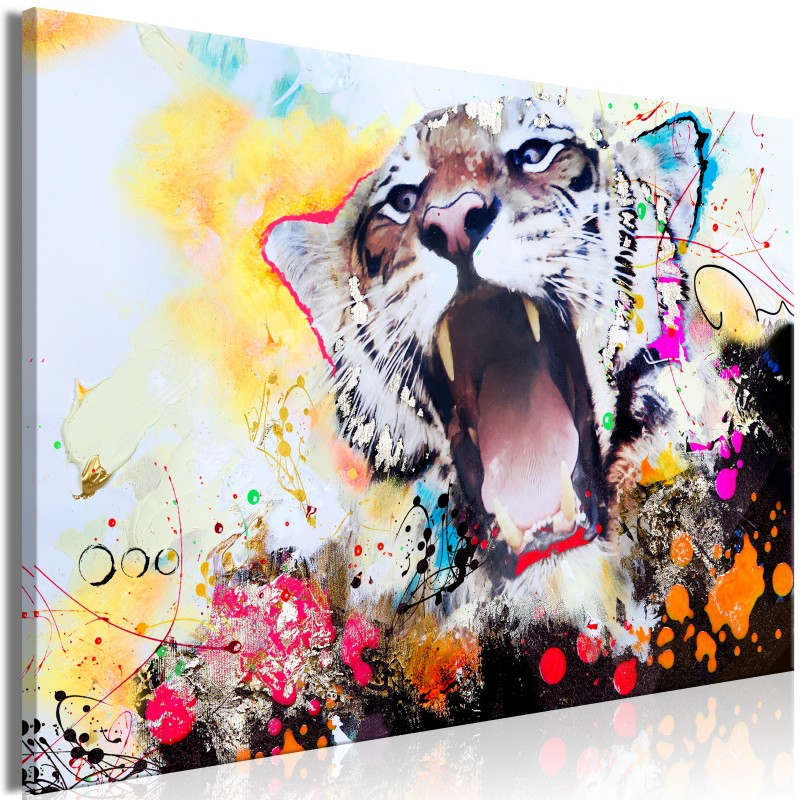 Obraz  Ryk tygrysa (1częściowy) szeroki