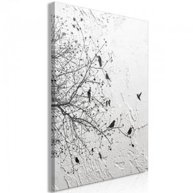 Obraz  Ptaki na drzewie (1częściowy) pionowy
