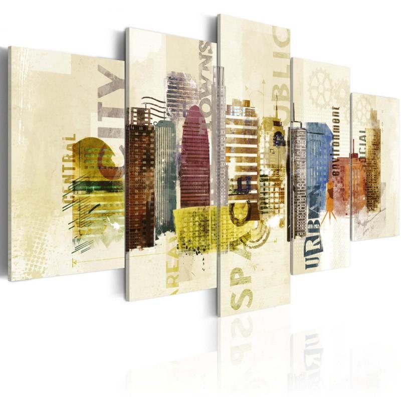 Obraz  Urban design  5 części