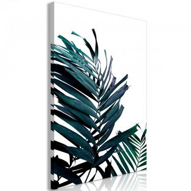 Obraz  Szmaragdowe liście (1częściowy) szeroki
