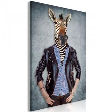 Obraz  Zebra Ewa (1częściowy) pionowy