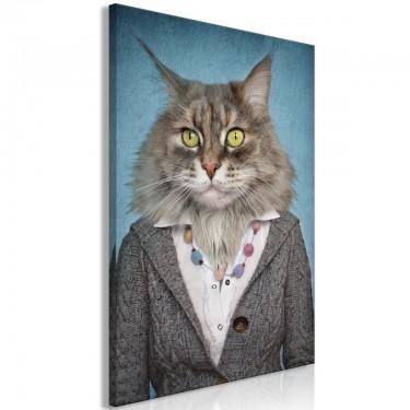 Obraz  Pani kot (1częściowy) pionowy
