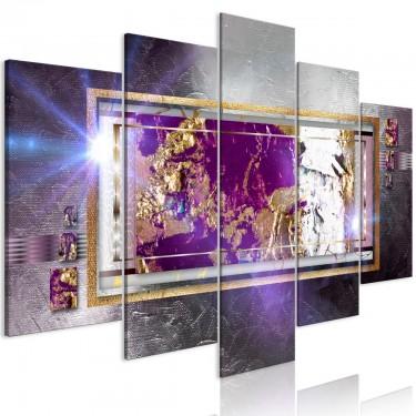 Obraz  Złote odbicie (5częściowy) szeroki