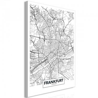 Obraz  Mapa Frankfurtu (1częściowy) pionowy