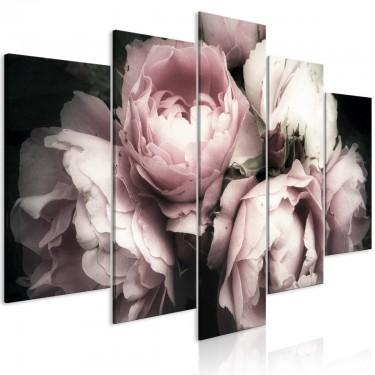 Obraz  Zapach róży (5częściowy) szeroki