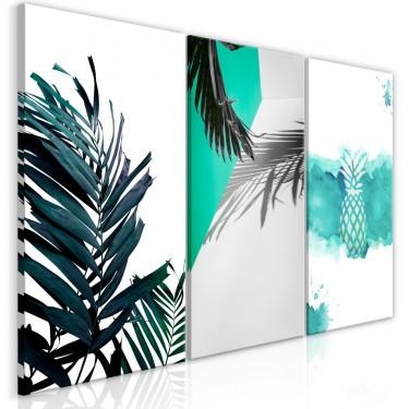 Obraz  Palmowy raj (3częściowy)