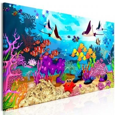 Obraz  Podwodna zabawa (1częściowy) wąski