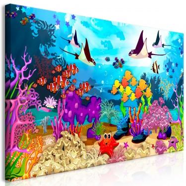 Obraz  Podwodna zabawa (1częściowy) szeroki