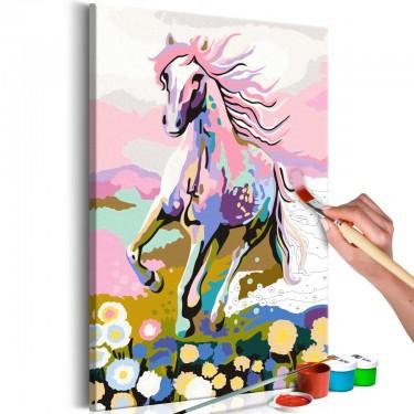 Obraz do samodzielnego malowania  Bajkowy koń