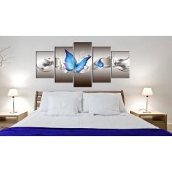 Obraz  Niebieskie motyle