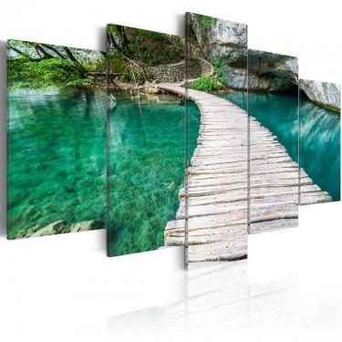 Obraz  Turkusowe jezioro