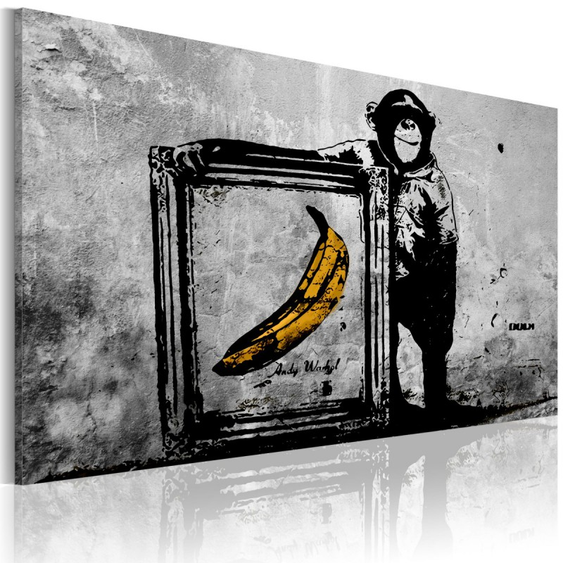 Obraz  Zainspirowane Banksym  black and white