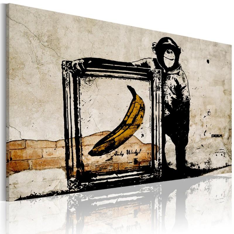 Obraz  Zainspirowane Banksym  sepia