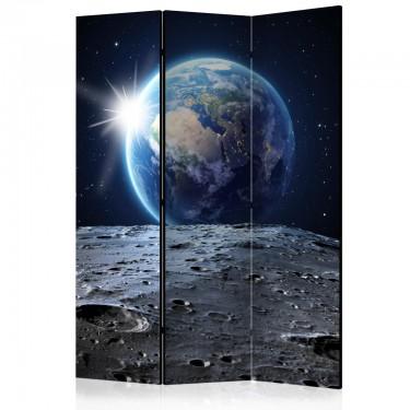 Parawan 3częściowy  Widok na Niebieską Planetę [Room Dividers]