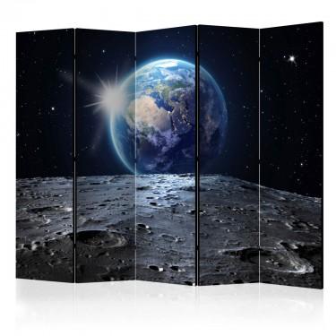 Parawan 5częściowy  Widok na Niebieską Planetę II [Room Dividers]