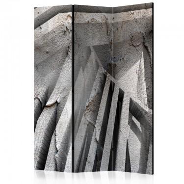 Parawan 3częściowy  Beton 3D [Room Dividers]