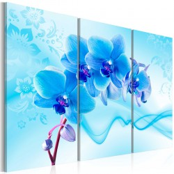 Obraz - Eteryczna orchidea - błękit