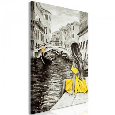 Obraz  Dalekie marzenia (1częściowy) pionowy żółty