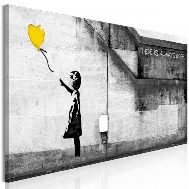 Obraz  Zawsze jest nadzieja (1częściowy) wąski żółty