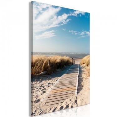 Obraz  Samotna plaża (1częściowy) pionowy