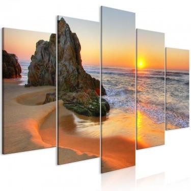 Obraz  Spotkanie o zachodzie słońca (5częściowy) szeroki