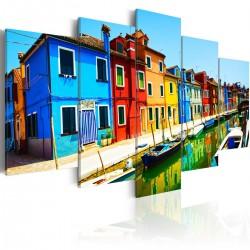 Obraz - Domy w kolorach tęczy