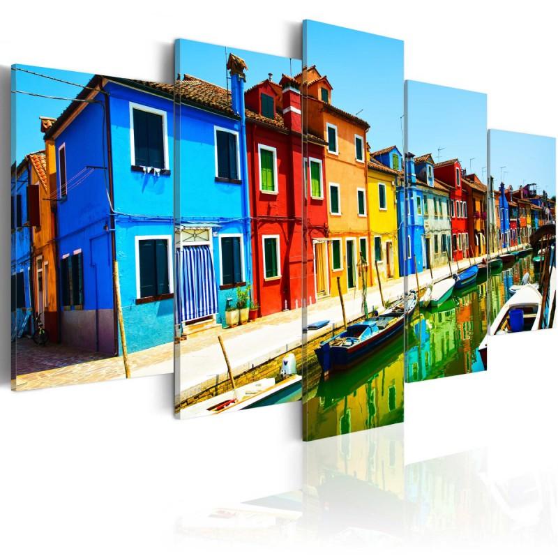 Obraz  Domy w kolorach tęczy