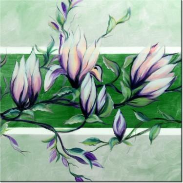 Obraz Słodycz magnolii w zieleni