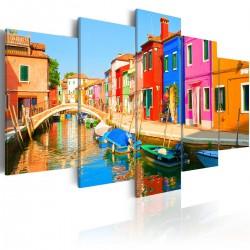 Obraz - Nadbrzeże w kolorach tęczy