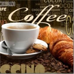 Obraz Apetyczna kawa w sepi