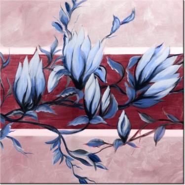 Obraz Słodycz magnolii niebiesko-różowa
